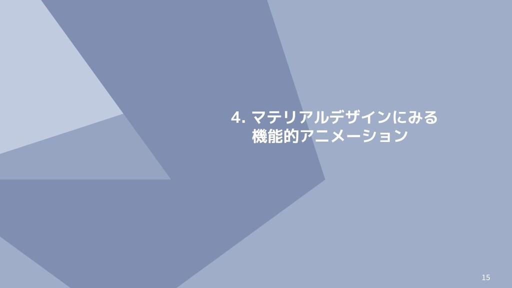 15 4. マテリアルデザインにみる 機能的アニメーション