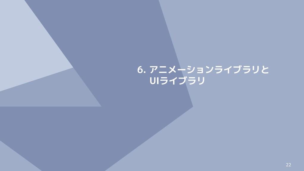 22 6. アニメーションライブラリと UIライブラリ