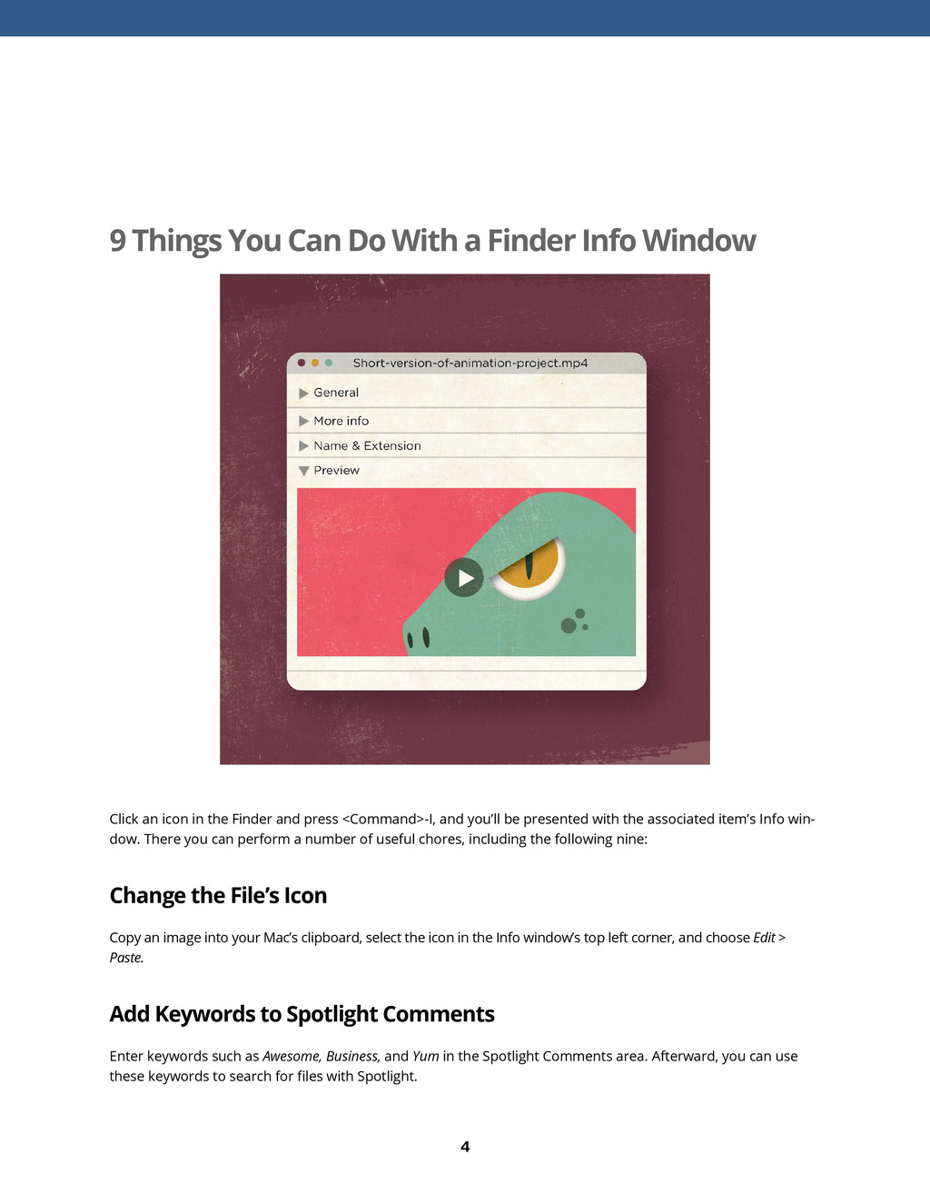 4 9 Things You Can Do With a Finder Info Window...