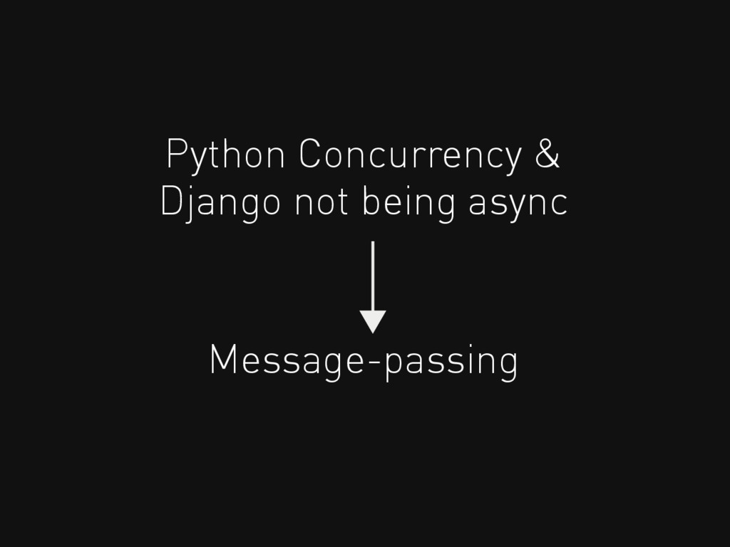 Python Concurrency & Message-passing Django not...