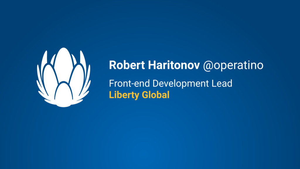 Front-end Development Lead Liberty Global Rober...