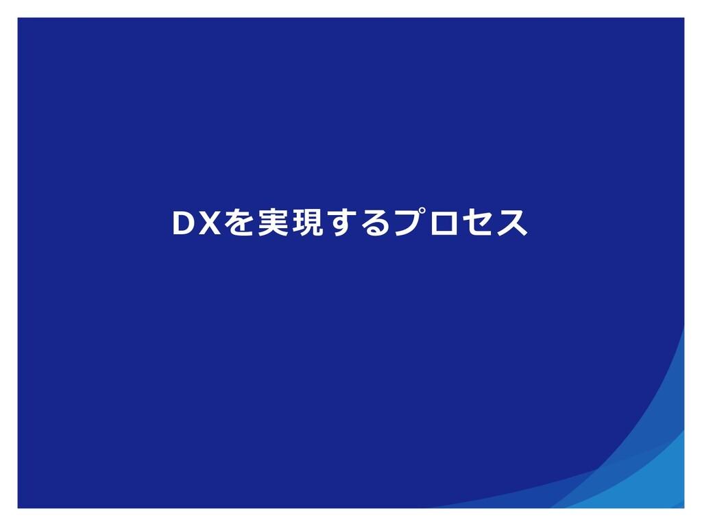 DXを実現するプロセス