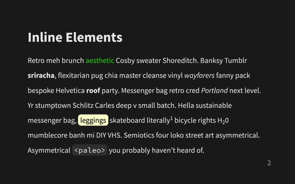 Inline Elements Retro meh brunch aesthetic Cosb...
