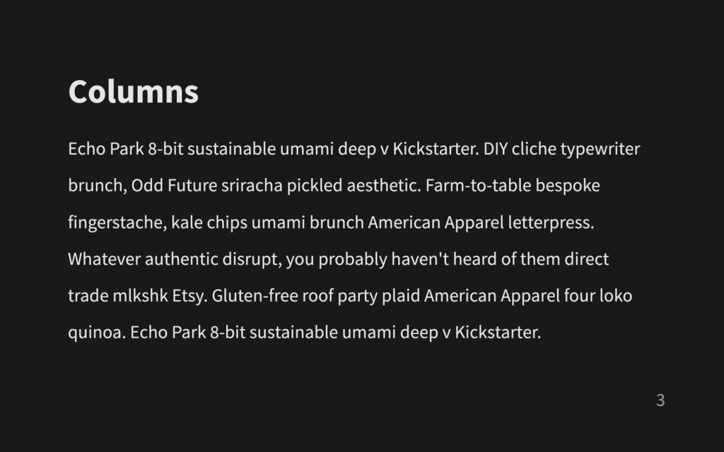 Columns Echo Park 8- bit sustainable umami deep...