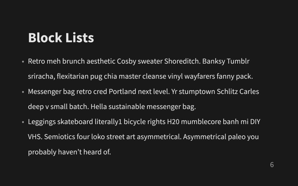 Block Lists • Retro meh brunch aesthetic Cosby ...