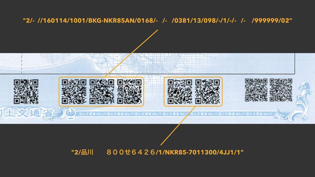 """2/- //160114/1001/BKG-NKR85AN/0168/- /- /0381/..."