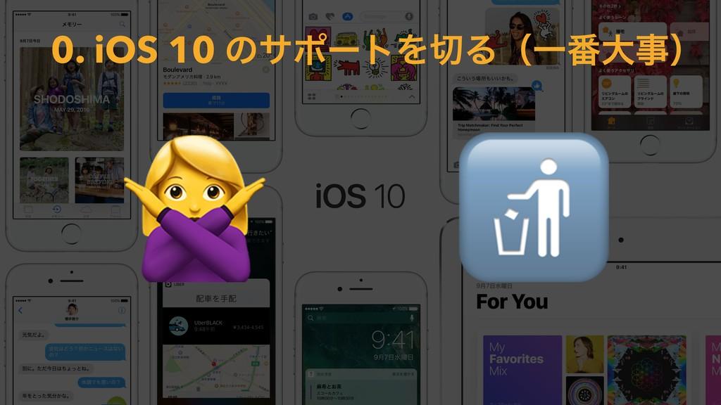 0. iOS 10 ͷαϙʔτΛΔʢҰ൪େʣ