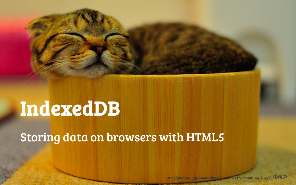IndexedDB Storing data on browsers with HTML5 h...