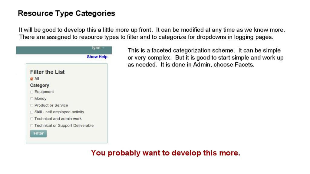 Resource Type Categories It will be good to dev...