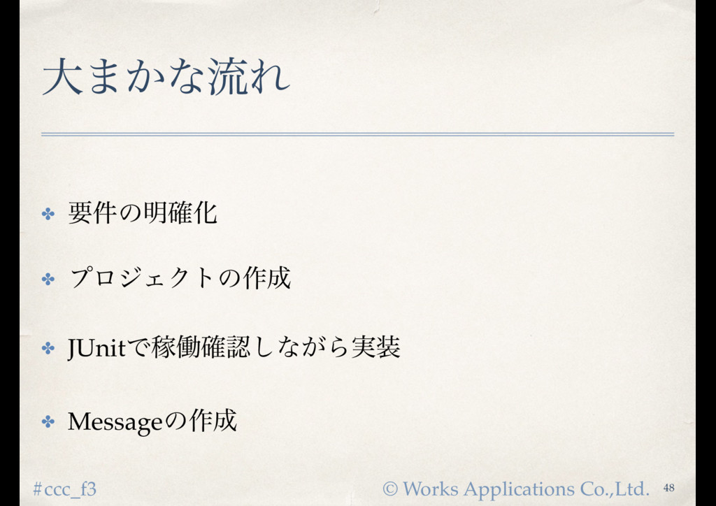 © Works Applications Co.,Ltd. #ccc_f3 େ·͔ͳྲྀΕ ✤ ...