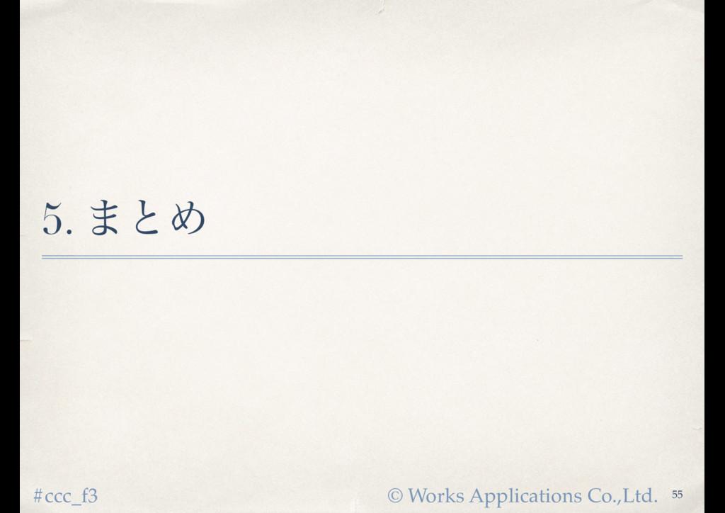 © Works Applications Co.,Ltd. #ccc_f3 5. ·ͱΊ 55
