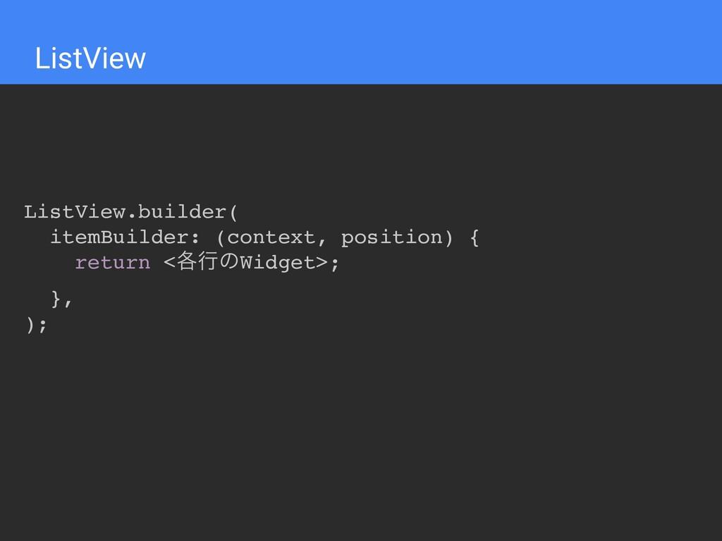 ListView ListView.builder( itemBuilder: (contex...