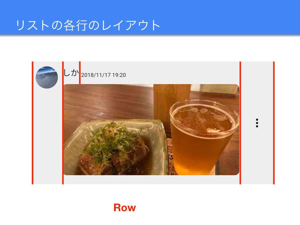 Ϧετͷ֤ߦͷϨΠΞτ Row