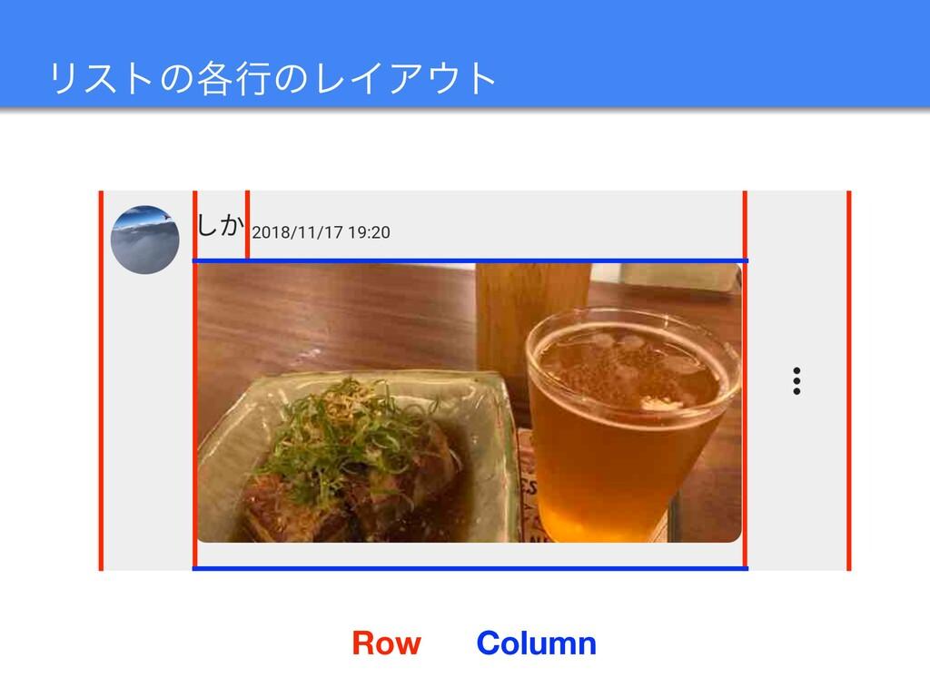Ϧετͷ֤ߦͷϨΠΞτ Row Column