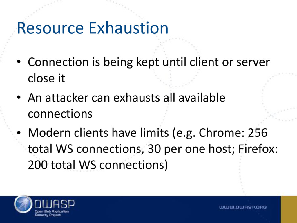 Resource Exhaustion • Connection is being kept ...