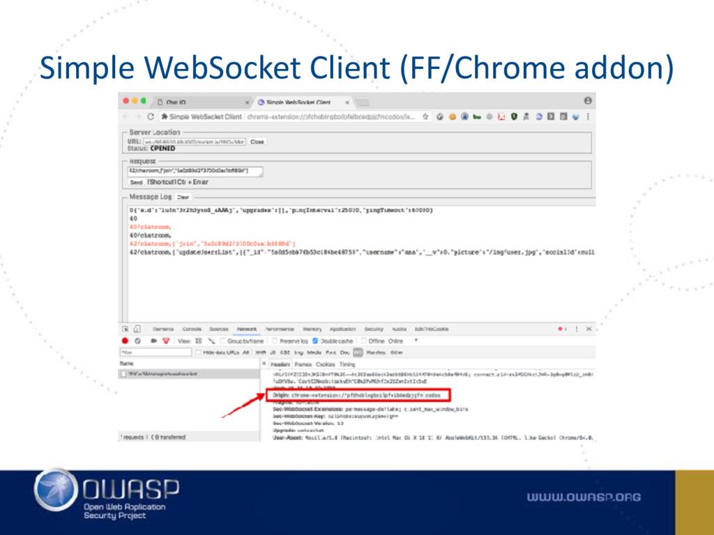 Simple WebSocket Client (FF/Chrome addon)