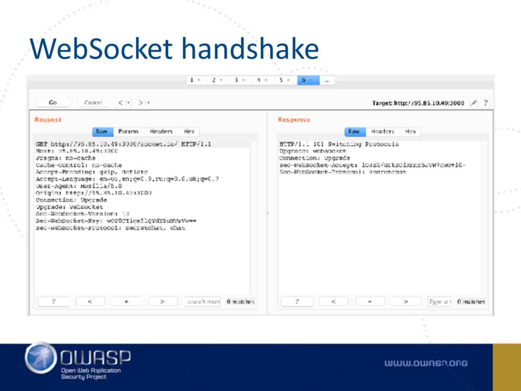 WebSocket handshake