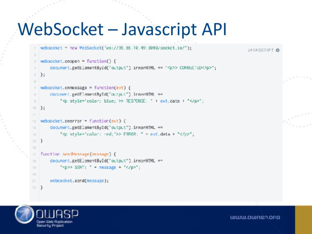 WebSocket – Javascript API