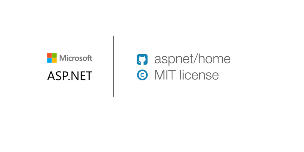 aspnet/home MIT license ! 