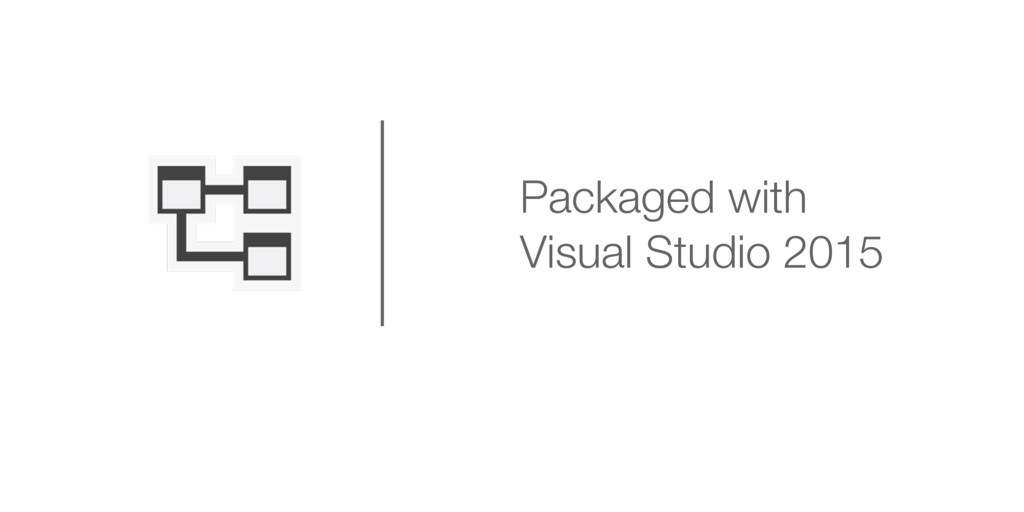 Packaged with Visual Studio 2015