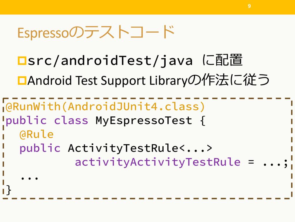 Espresso psrc/androidTest/java  pAndro...