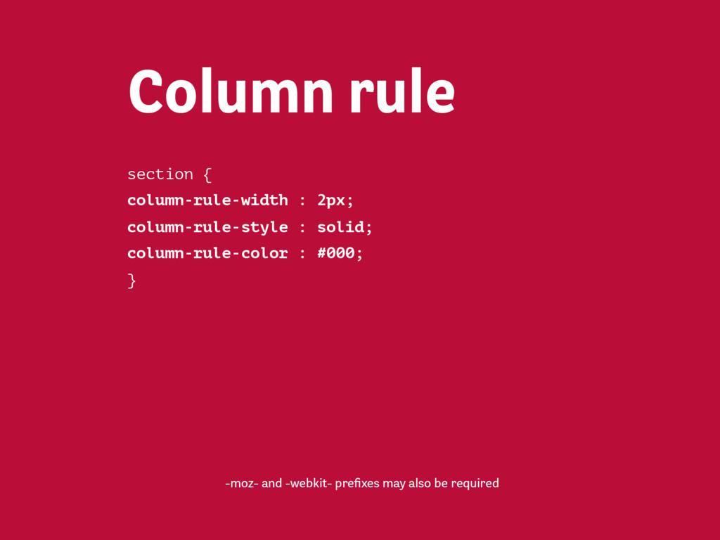 section { column-width : 32em; } Column width -...