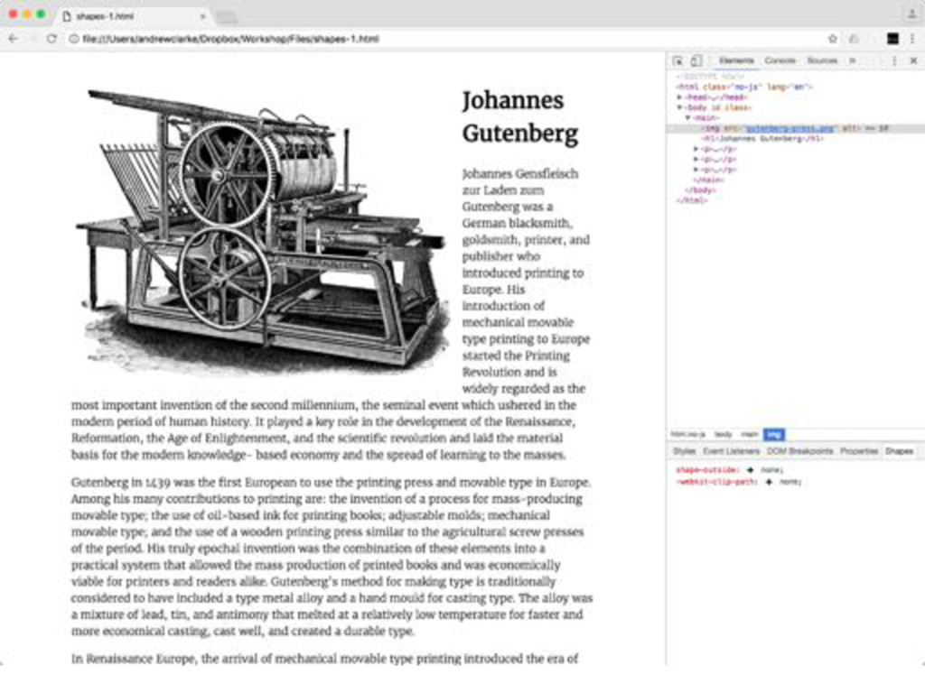 img { float : left;