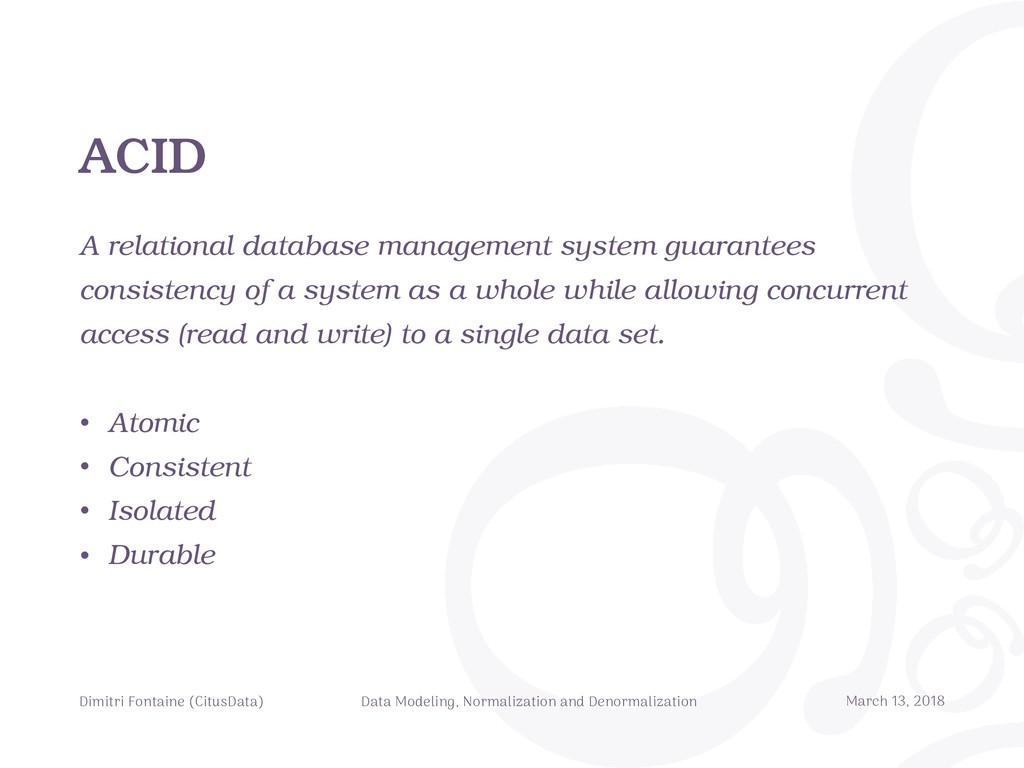 ACID A relational database management system gu...