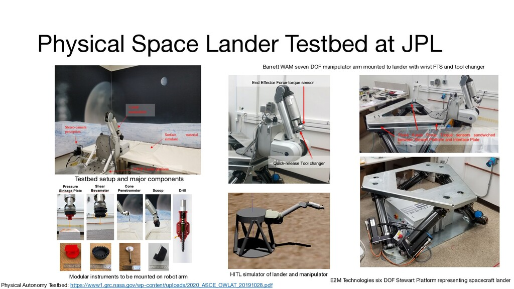Physical Space Lander Testbed at JPL Physical A...