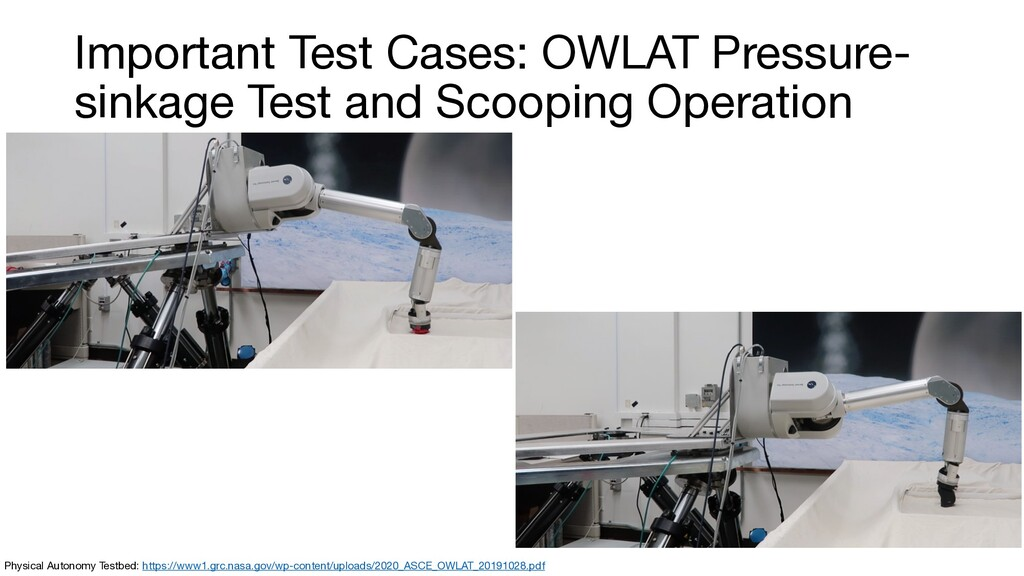Important Test Cases: OWLAT Pressure- sinkage T...