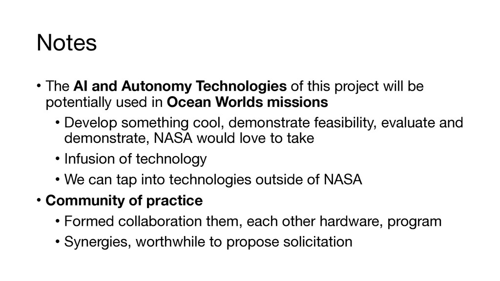 Notes • The AI and Autonomy Technologies of thi...