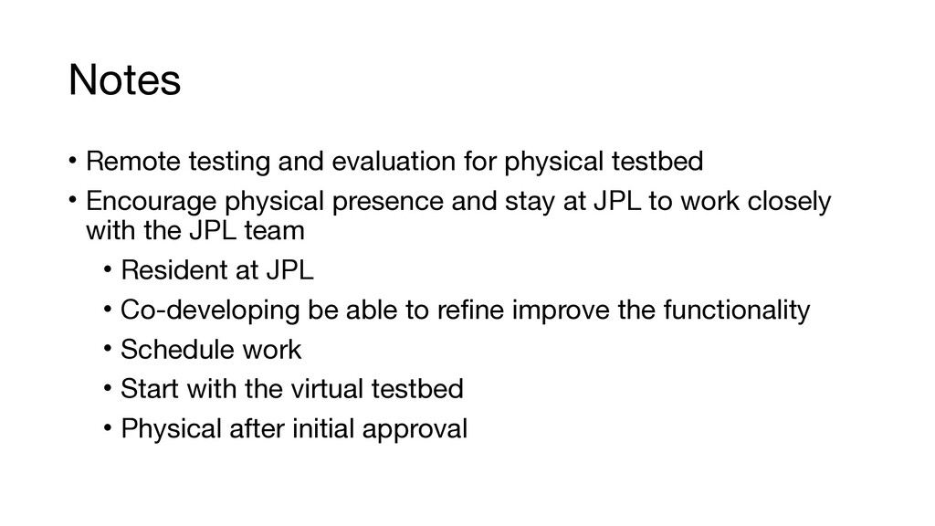 Notes • Remote testing and evaluation for physi...