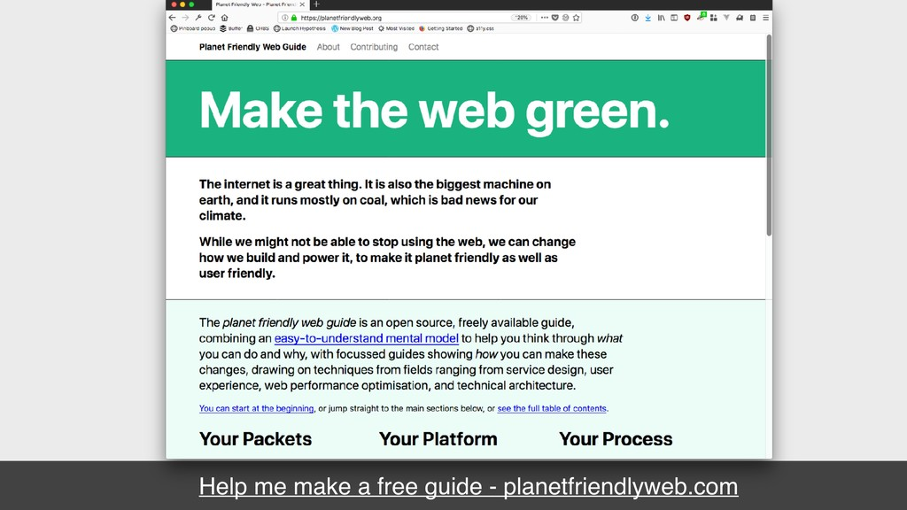 Help me make a free guide - planetfriendlyweb.c...