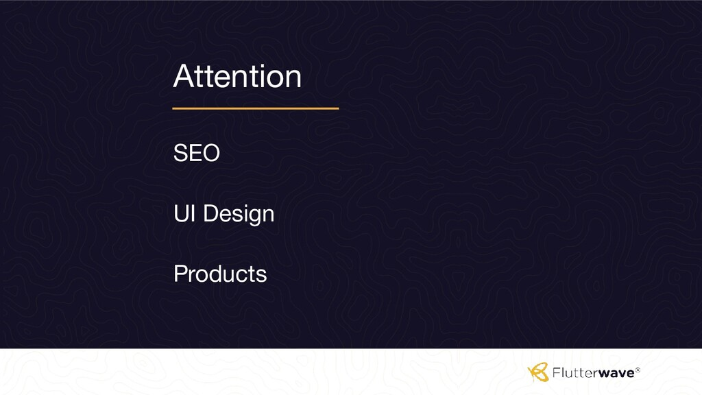 Attention SEO Products UI Design