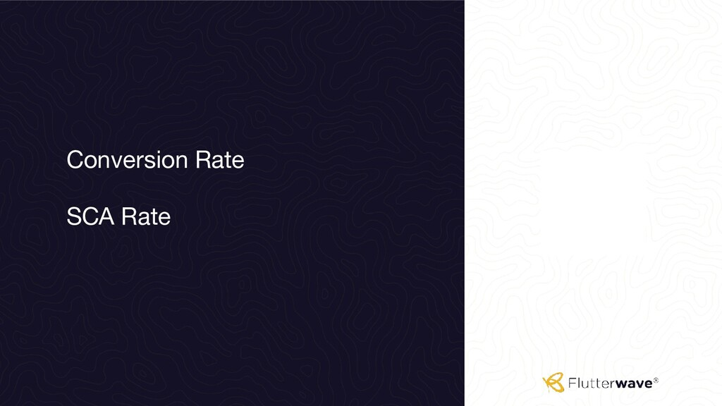 Conversion Rate SCA Rate