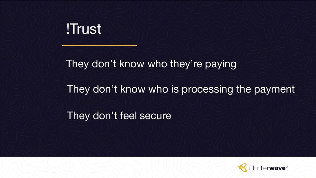 !Trust They don't know who they're paying They ...