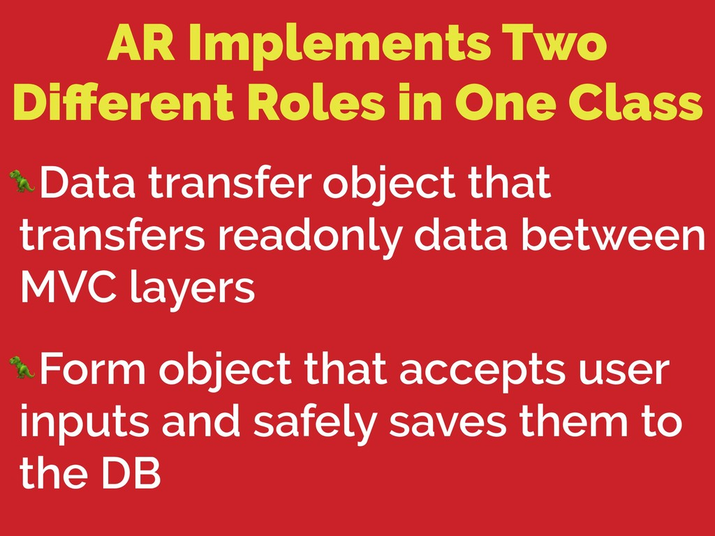 AR Implements Two Different Roles in One Class D...