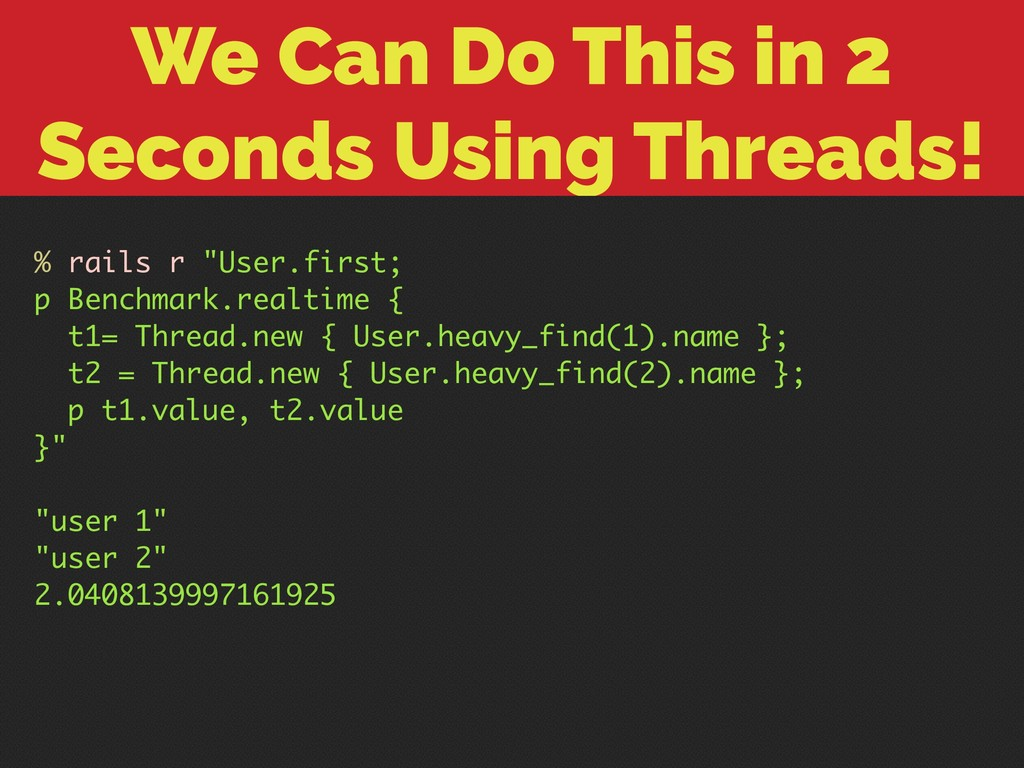 We Can Do This in 2 Seconds Using Threads! % ra...