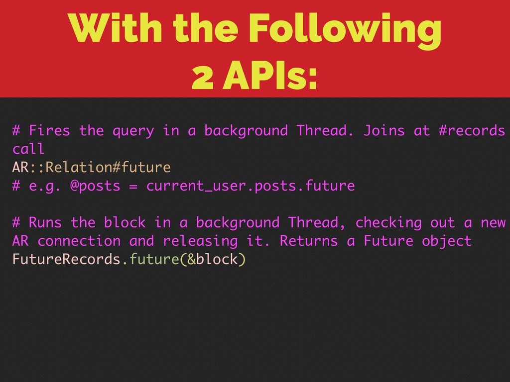 With the Following