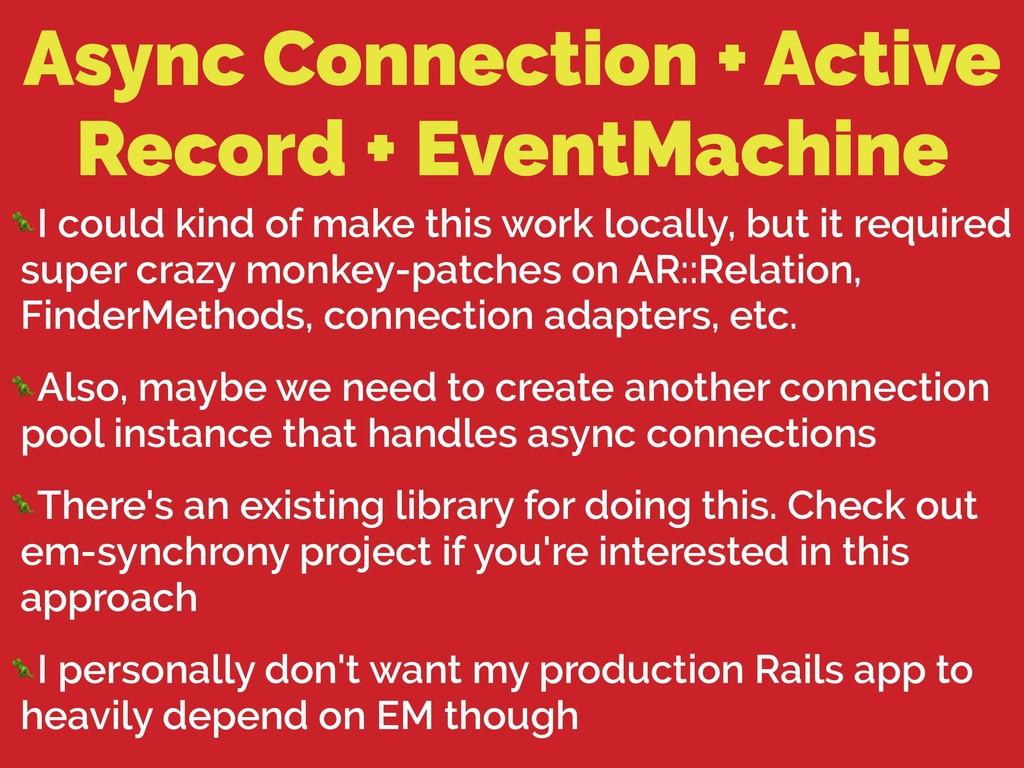 Async Connection + Active Record + EventMachine...