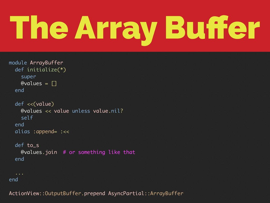 The Array Buffer module ArrayBuffer def initiali...