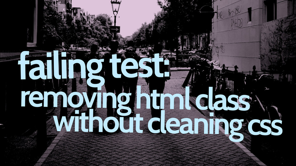 failing test: removing html class without clean...
