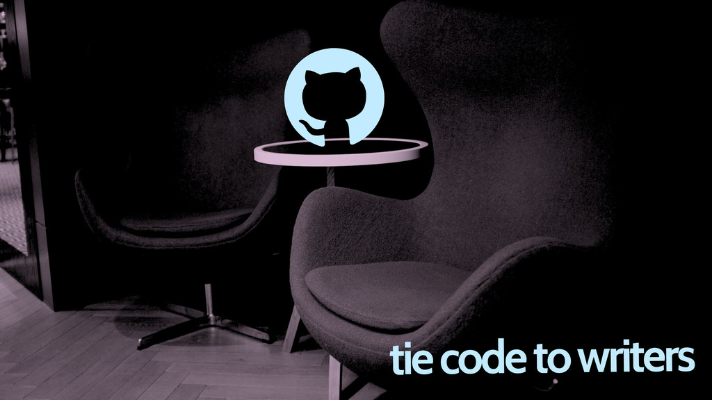 tie code to writers d