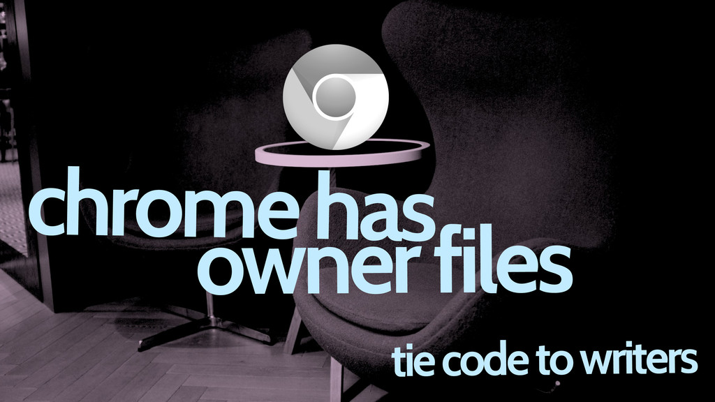 tie code to writers chrome has owner files