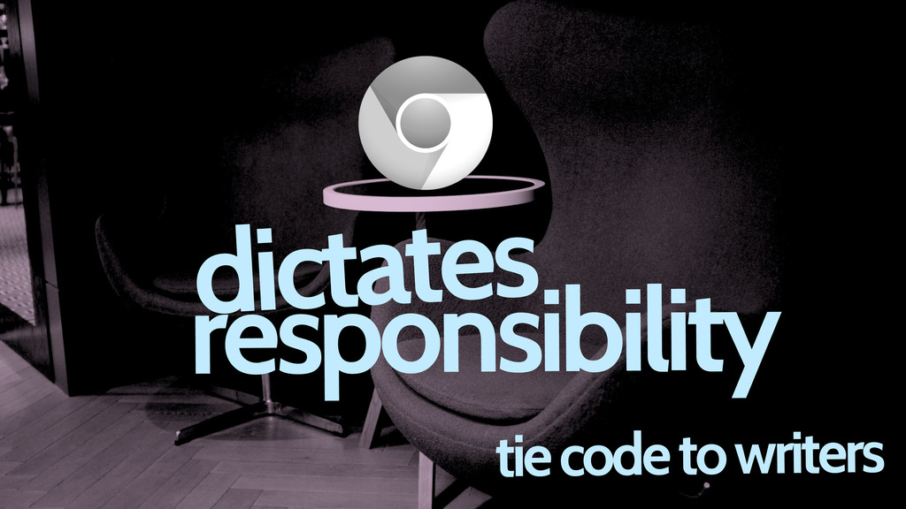 tie code to writers dictates responsibility