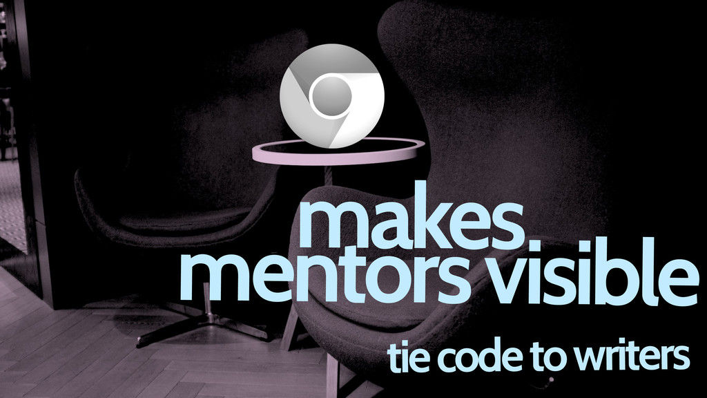 tie code to writers makes mentors visible