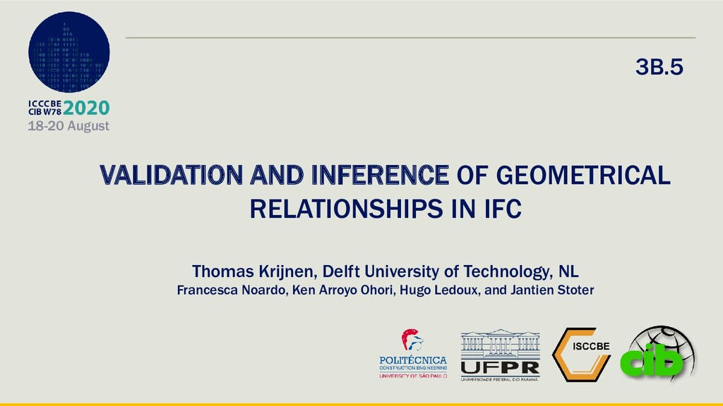 18-20 August VALIDATION AND INFERENCE OF GEOMET...