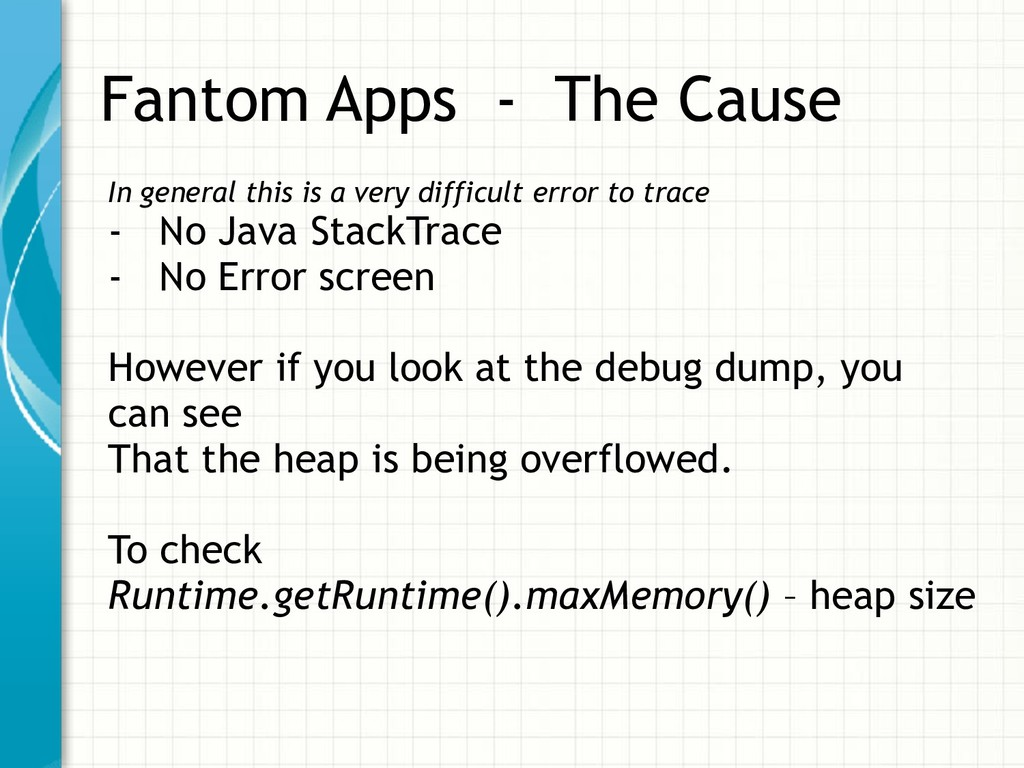 Fantom Apps - The Cause In general this is a ve...