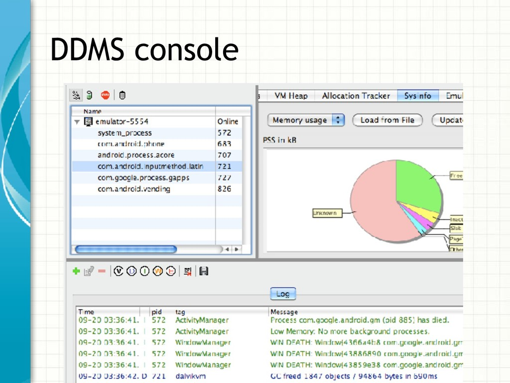 DDMS console