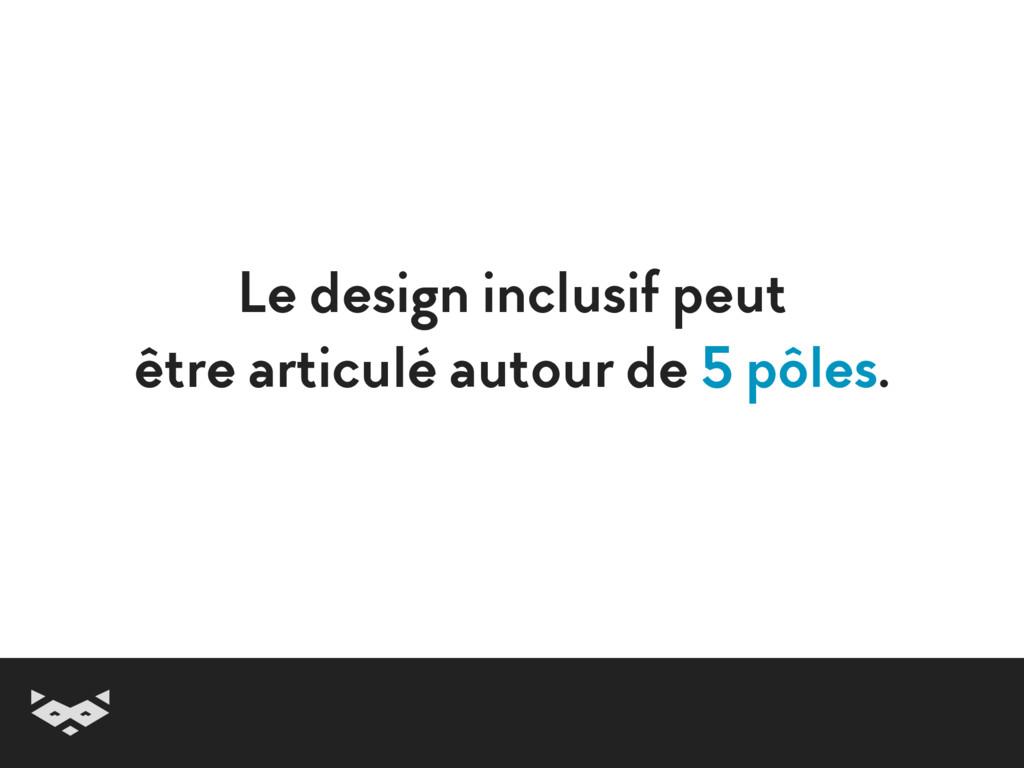 Le design inclusif peut  être articulé autour ...